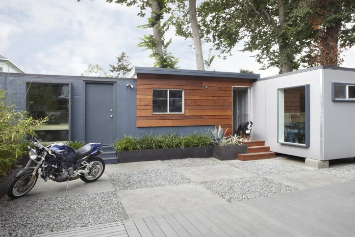 Container Homes Repurposed Shipping Containers Modern Contemporary Recycled Decor Metal Revamped Salvaged Redwood Glass Panels