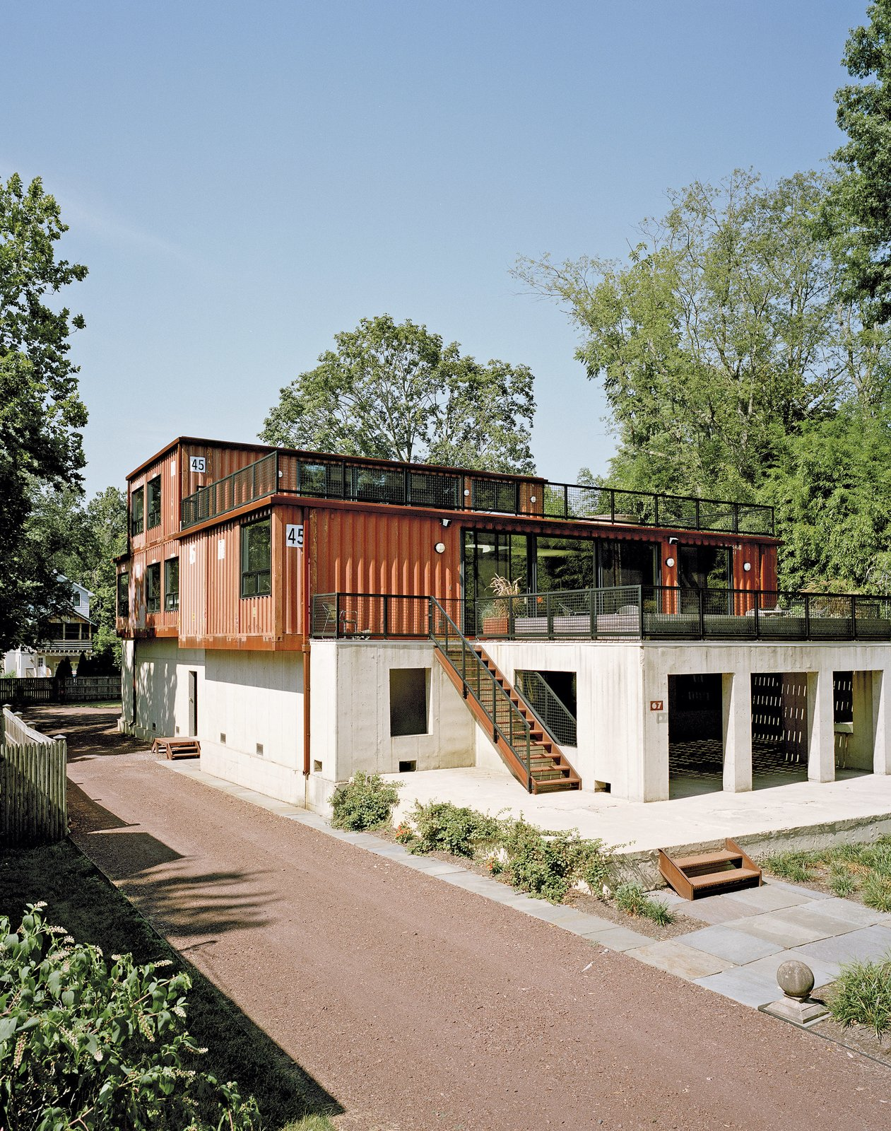 A Shipping Container Home In Pennsylvania Embraces Its