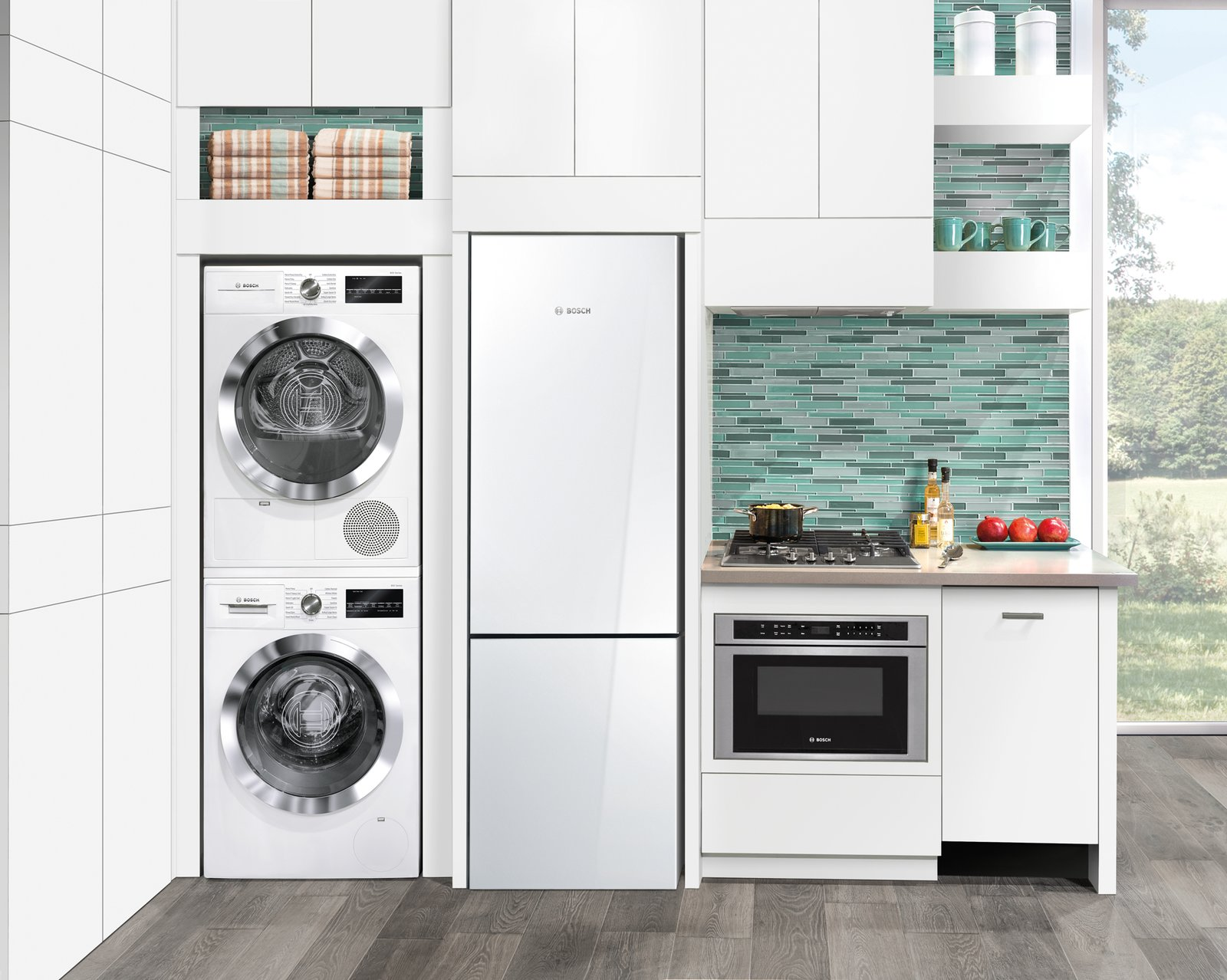 compact appliances for small kitchens steampunk kitchen dwell bosch 39s streamlined and laundry