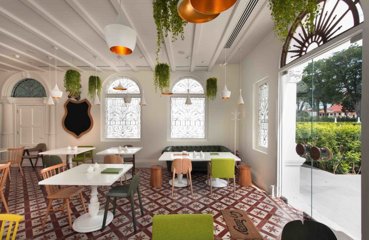 12 Modern Hotels in Historic Buildings Around the World - Photo 13 of 24 - This almost 100-year-old landmark colonial mansion in the UNESCO heritage city of Georgetown in Penang was given new life as a hotel by its Malaysian owners who worked with the Singapore architects at Ministry of Design to create eight dreamy guest rooms with hints of colonial splendor.