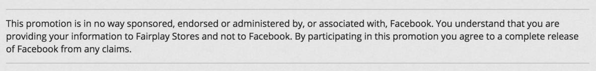 facebook raffle rules