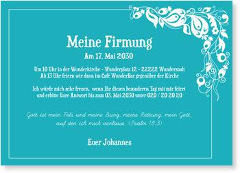 Einladung in Himmelblau Einladungskarten Firmung