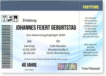 Konzertkarte Einladungskarten Geburtstag