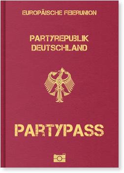 Partypass Einladungskarten 40 Geburtstag