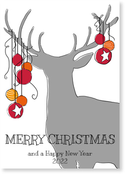 Hirschsilhouette in Grau Aktuelle Weihnachtskarten 2015