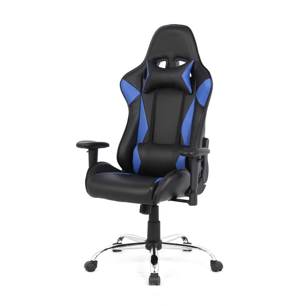 Video Game Chairs Ergonomic Racing Gaming Chair Black And White Moustache