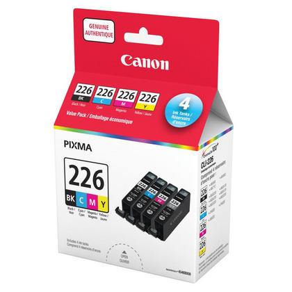 Canon CLI-226 Original Ink Cartridge Combo BK/C/M/Y (4546B005AA 4546B008AA)