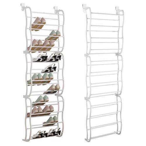 36 pair shoe rack over the door shoe storage organizer white sortwise