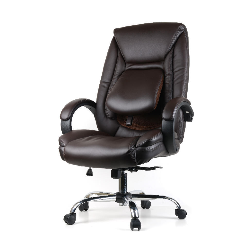 Ergonomic Chair Ergonomic Faux Leather High Back Office Chair With Adjustable Lumbar Support Moustache Black