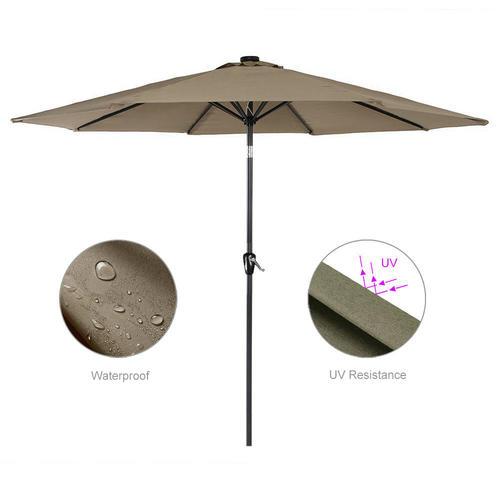 9 ft outdoor patio umbrella for garden and event parasol sun sunshade greenwise tan