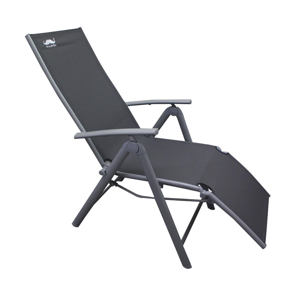 Lounge Chair Patio Zero Gravity Lounge Chair Camping Relax Chair Patio Garden Chair Gray Moustache 1 Pack