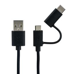 2 in 1 type c or micro usb to usb cable for smartphone tablet 1m primecables 123inkcartridges 123ink ca canada [ 1000 x 1000 Pixel ]