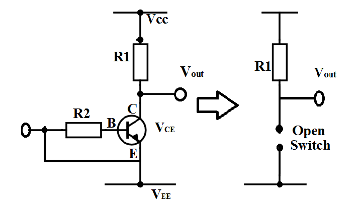 Transistor as a switch theory with block diagram