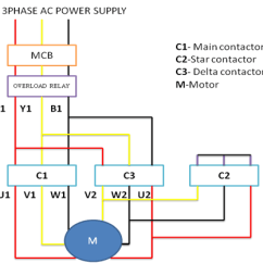 Wiring Diagram Motor Control Animal Vs Plant Cell Of Star Delta Starter How To Troubleshoot 3 Phase Induction Step By Guide