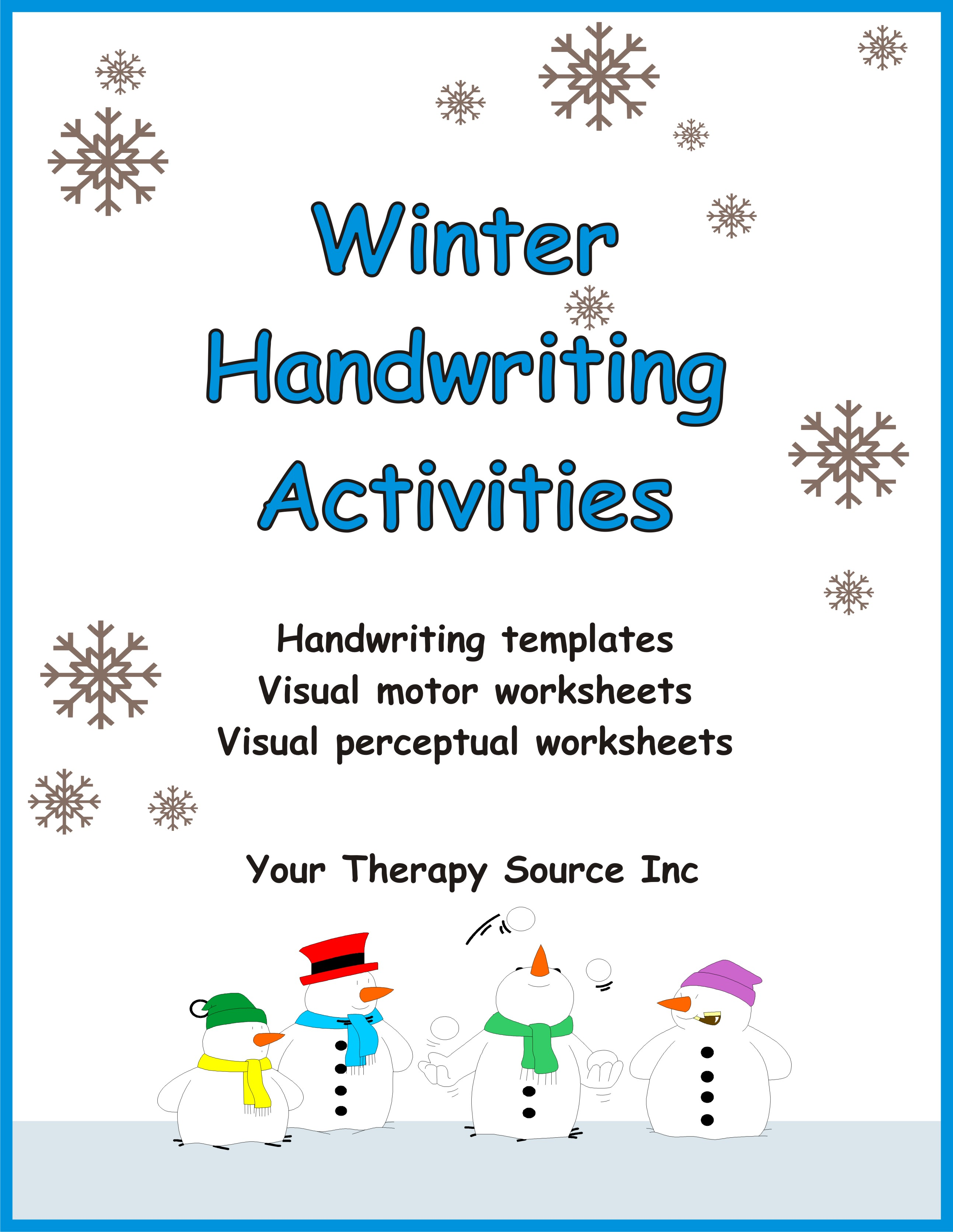 Winter Handwriting Activities