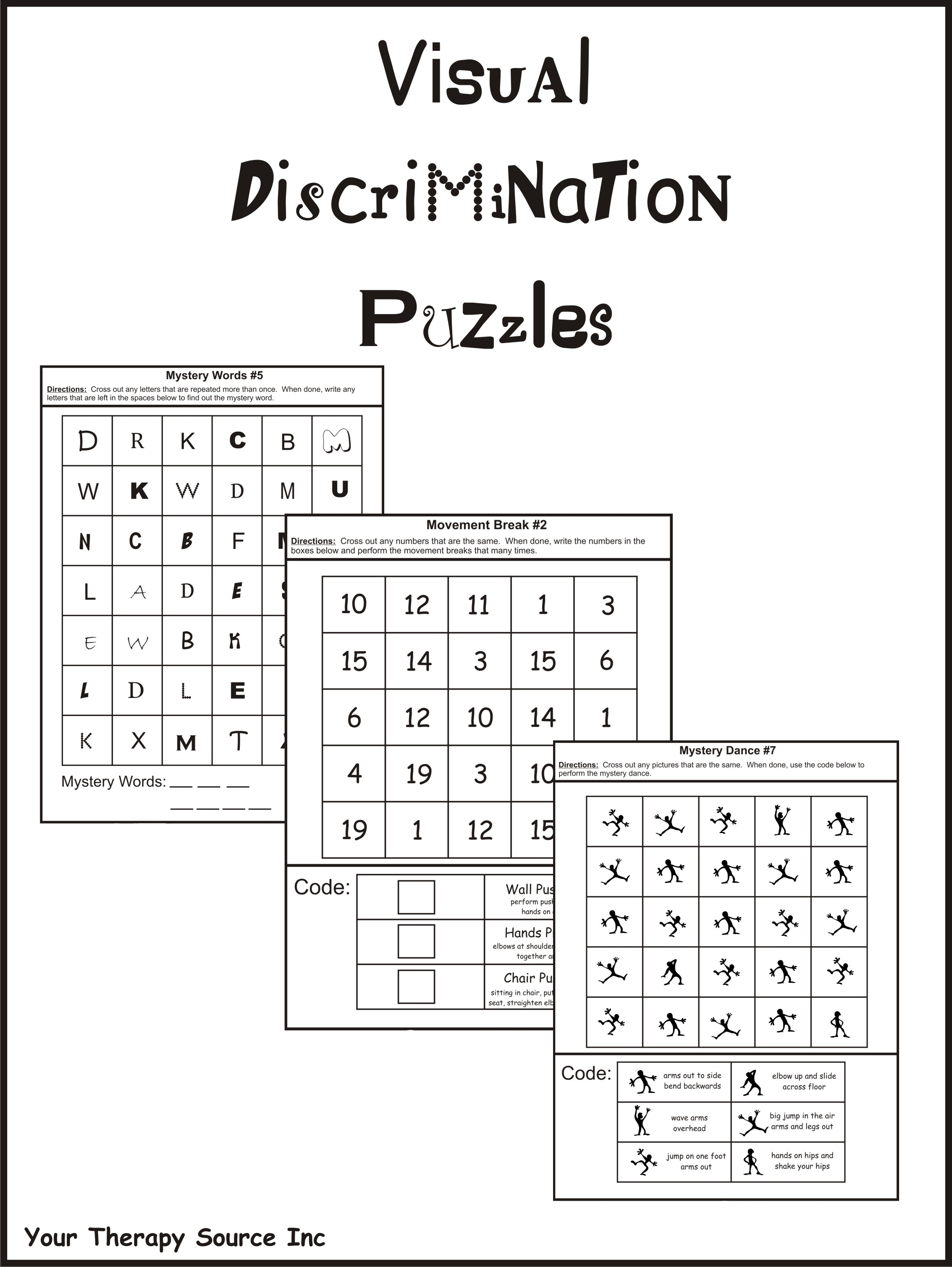 Visual Discrimination Puzzles