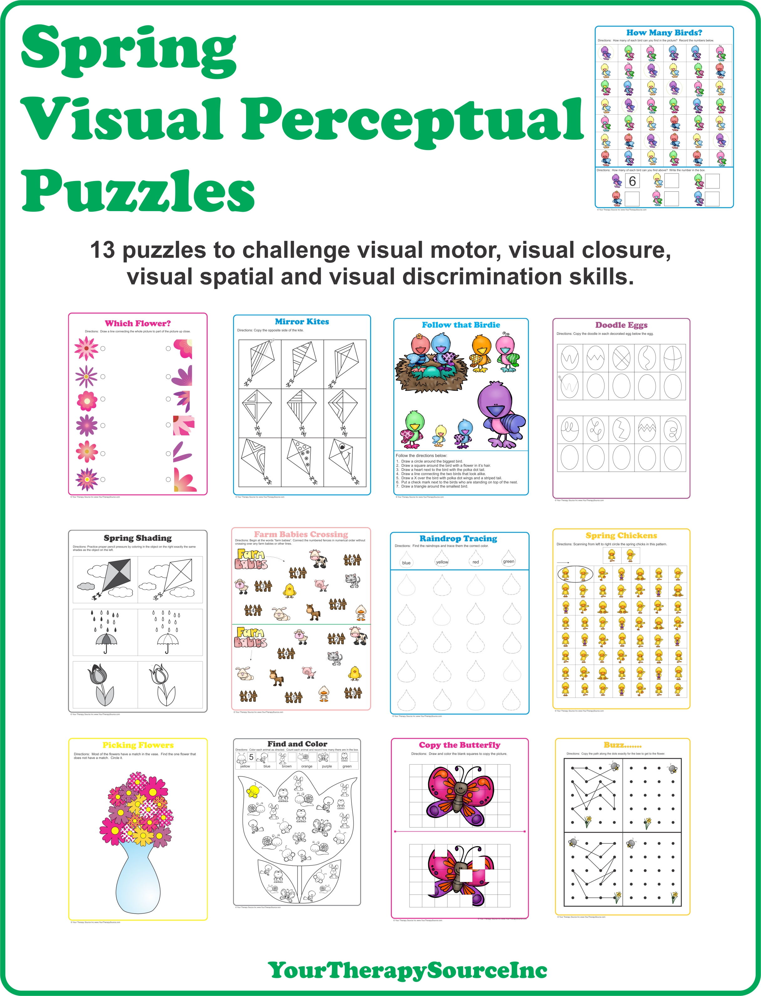 Spring Visual Perceptual Puzzles