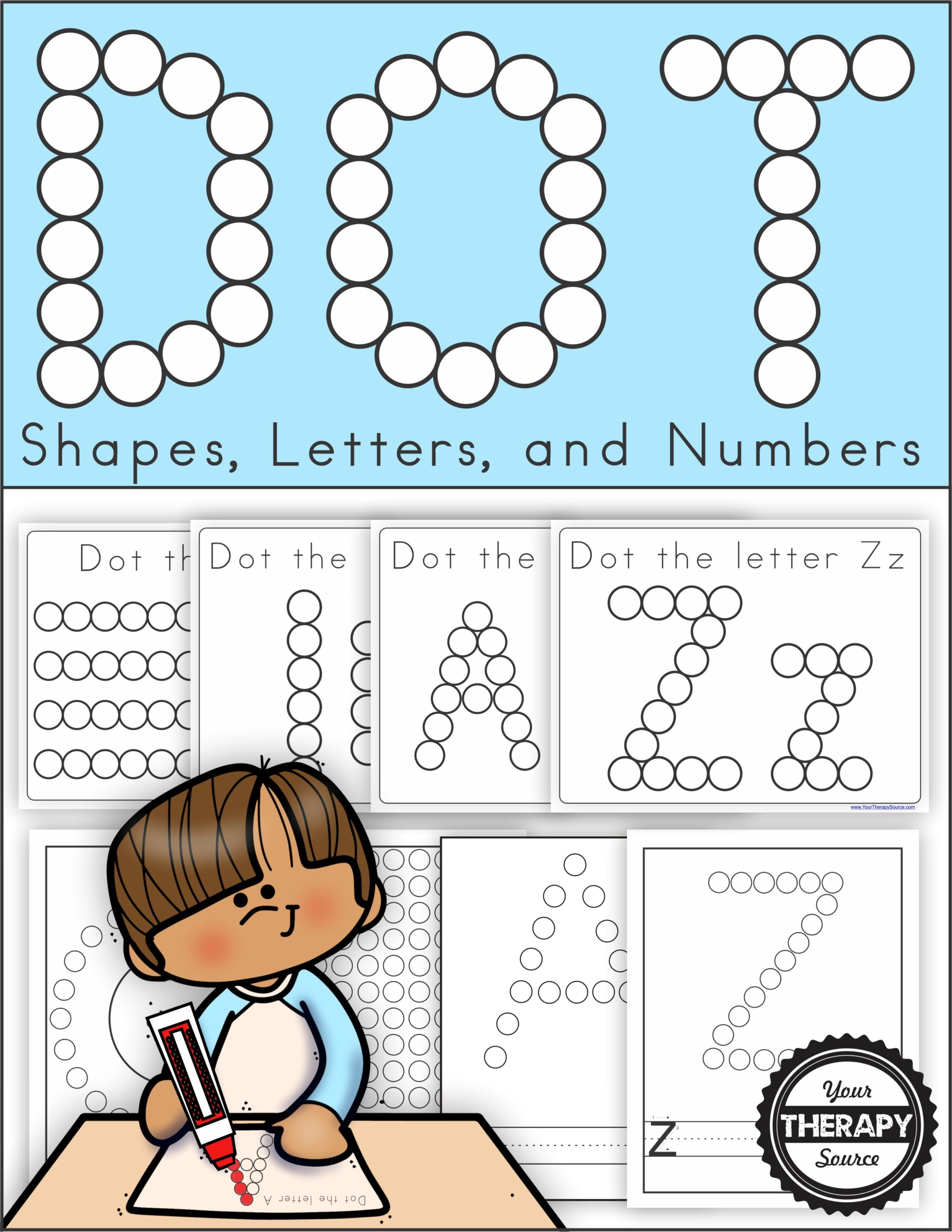 Do A Dot Printable Alphabet Numbers Lines And Shapes