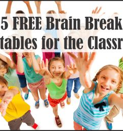 5 FREE Brain Break Printables - Your Therapy Source [ 1196 x 1694 Pixel ]