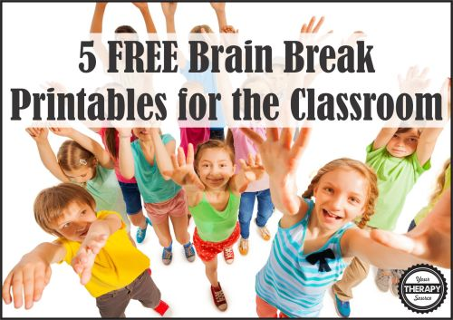 small resolution of 5 FREE Brain Break Printables - Your Therapy Source