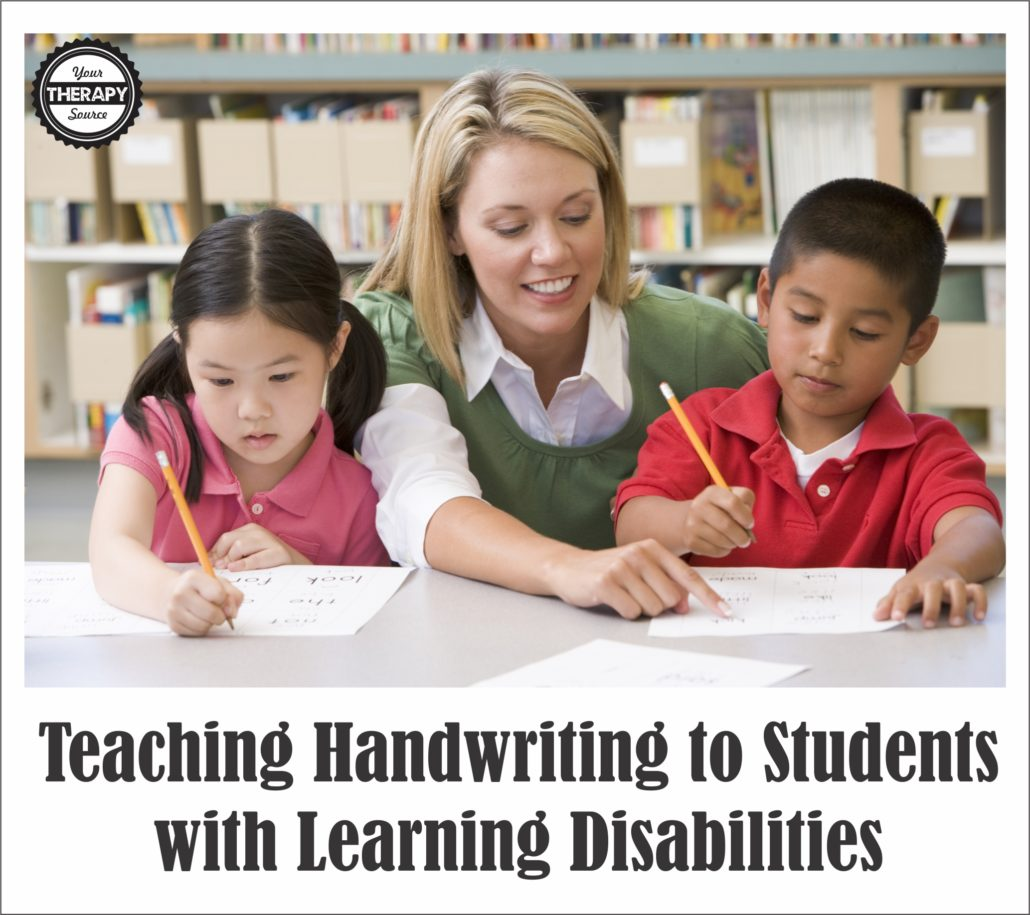 Teaching Handwriting To Students With Learning
