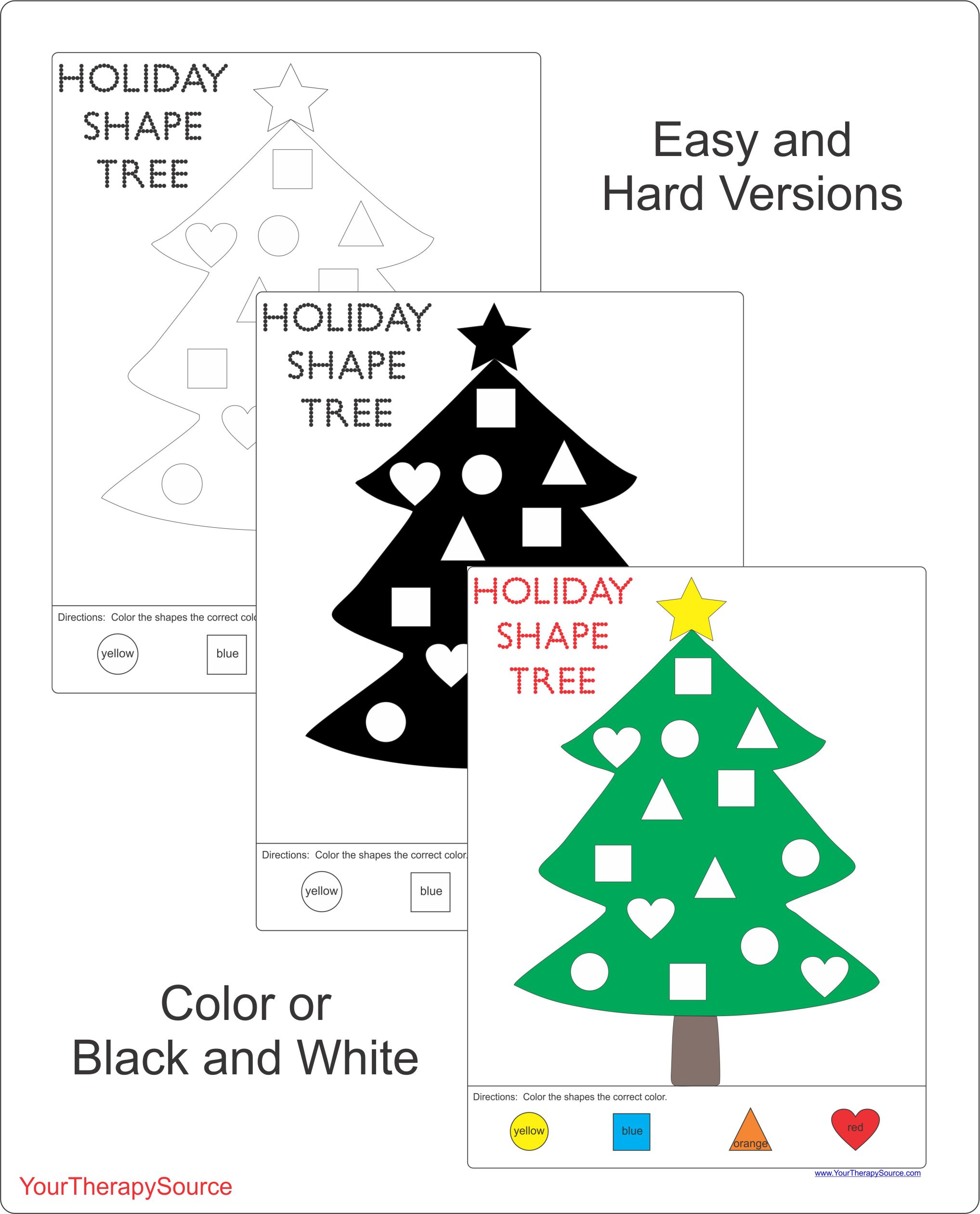 Holiday Shape Tree
