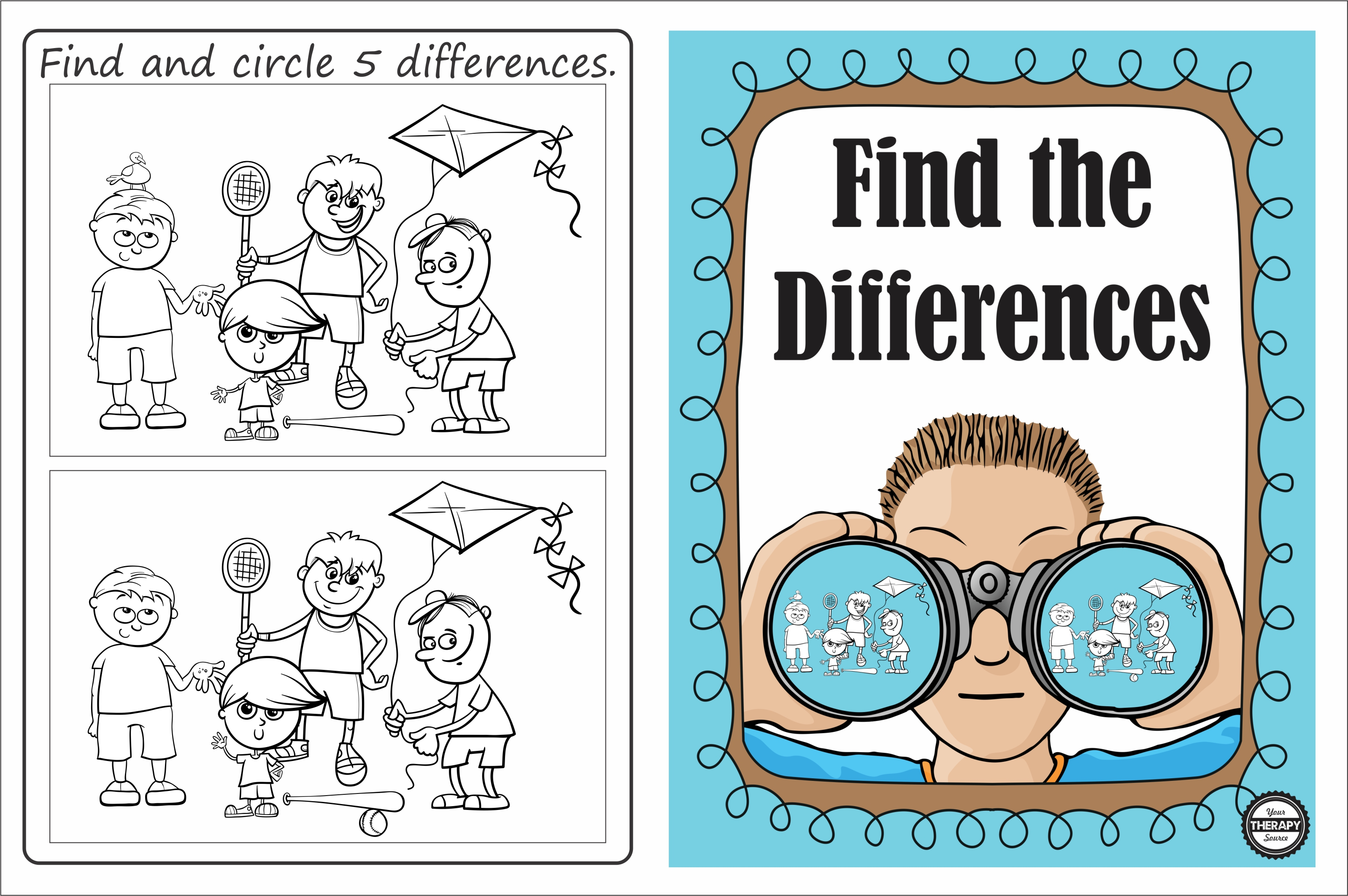 Find The Differences Visual Discrimination Puzzle