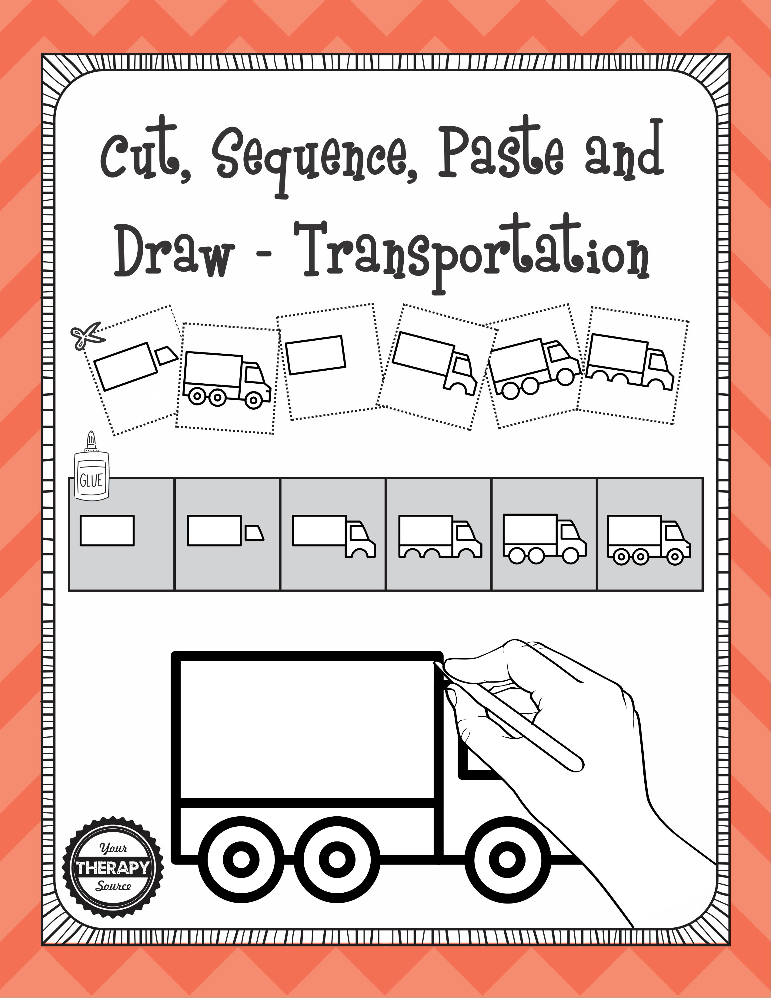 Cut Sequence Paste And Draw Transportation