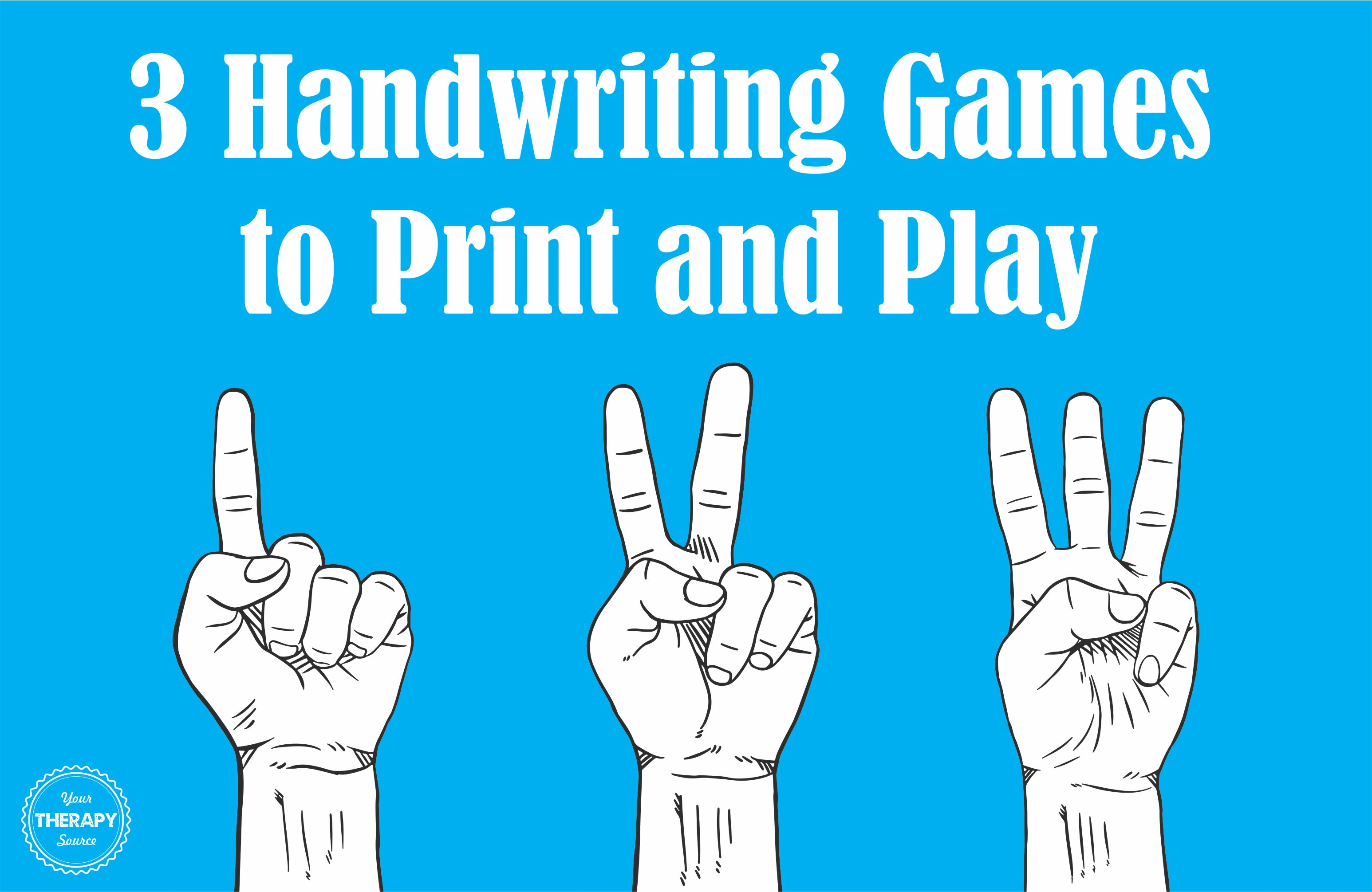3 Handwriting Games To Print And Play