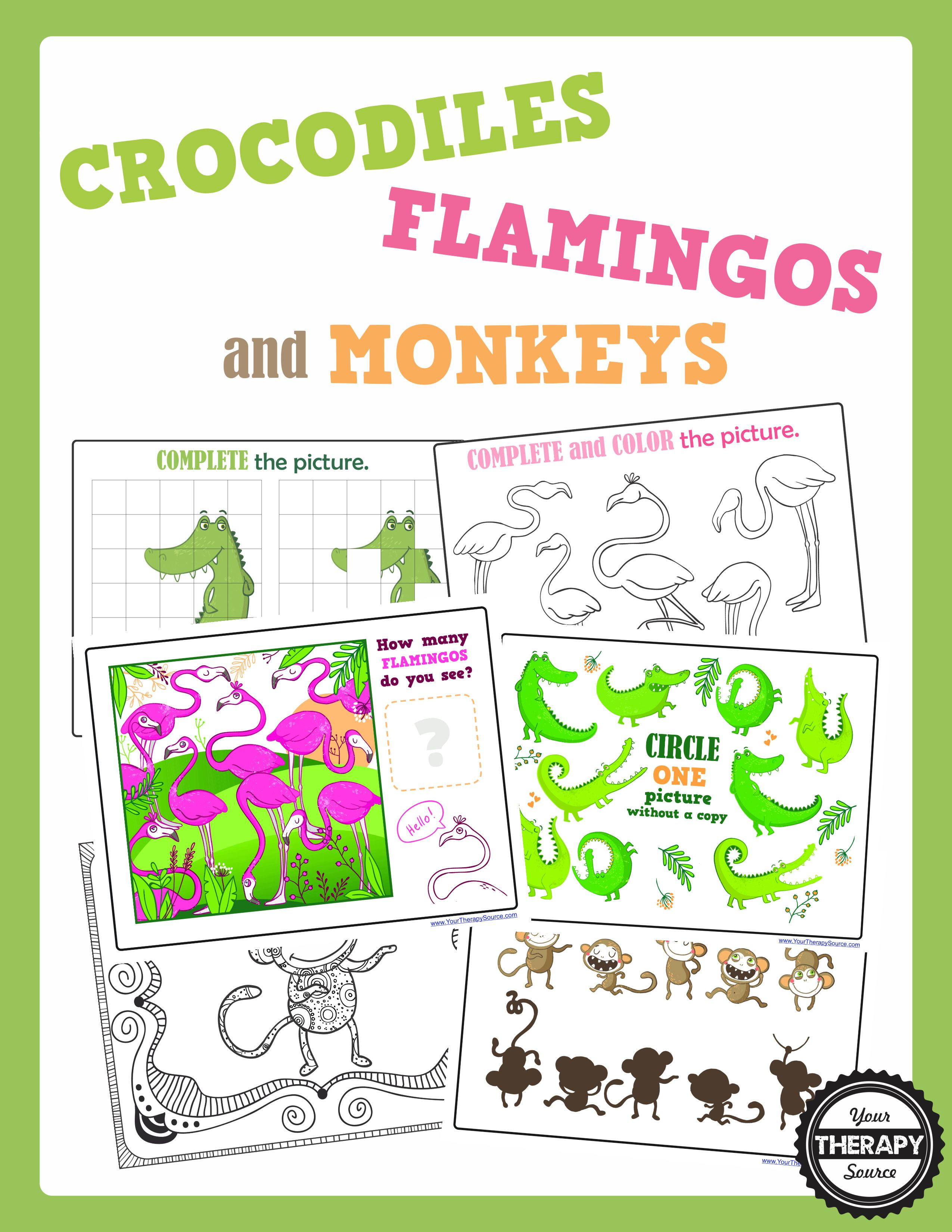 Crocodiles Flamingos And Monkeys Visual Perceptual Packet