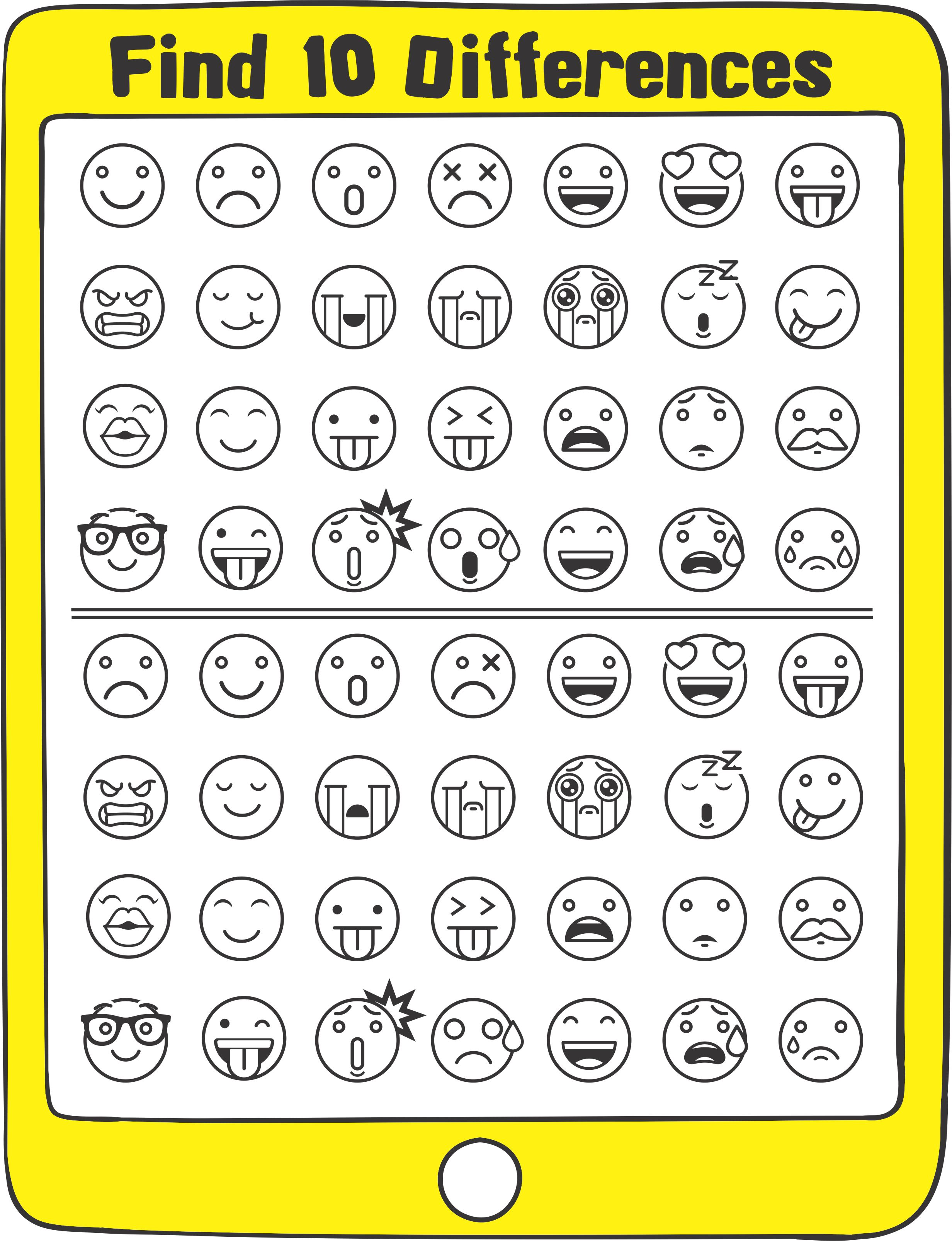 Emoji Sensory Motor Packet