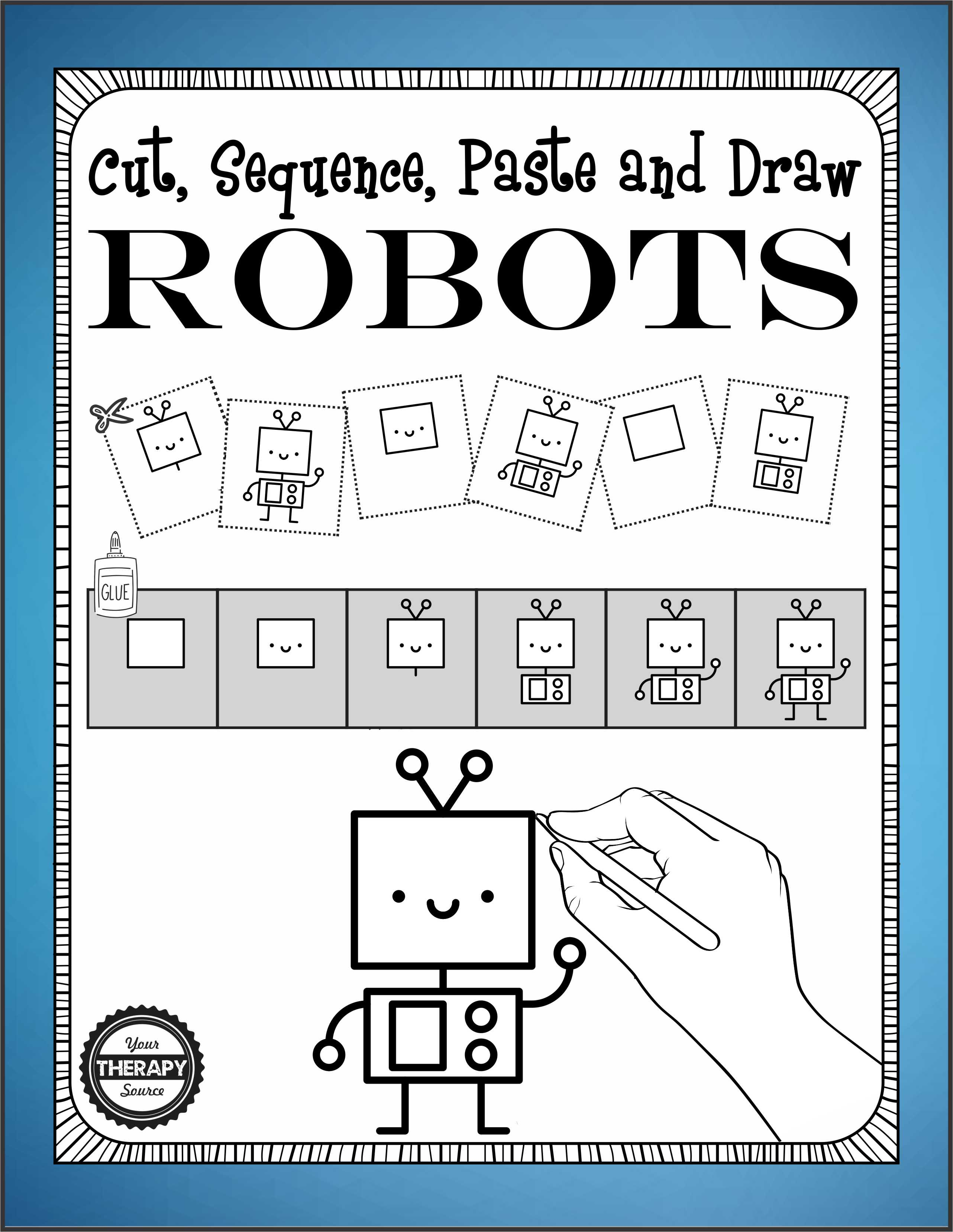 Cut Sequence Paste And Draw Robots