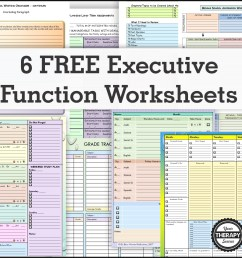 6 FREE Executive Functioning Activity Worksheets - Your Therapy Source [ 1205 x 1205 Pixel ]