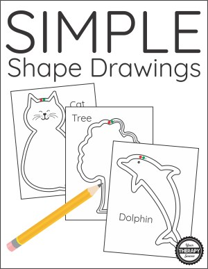 simple shape drawings visual perceptual cat activities therapy airplane draw skills motor occupational sample pediatric outline around animals tired preschool