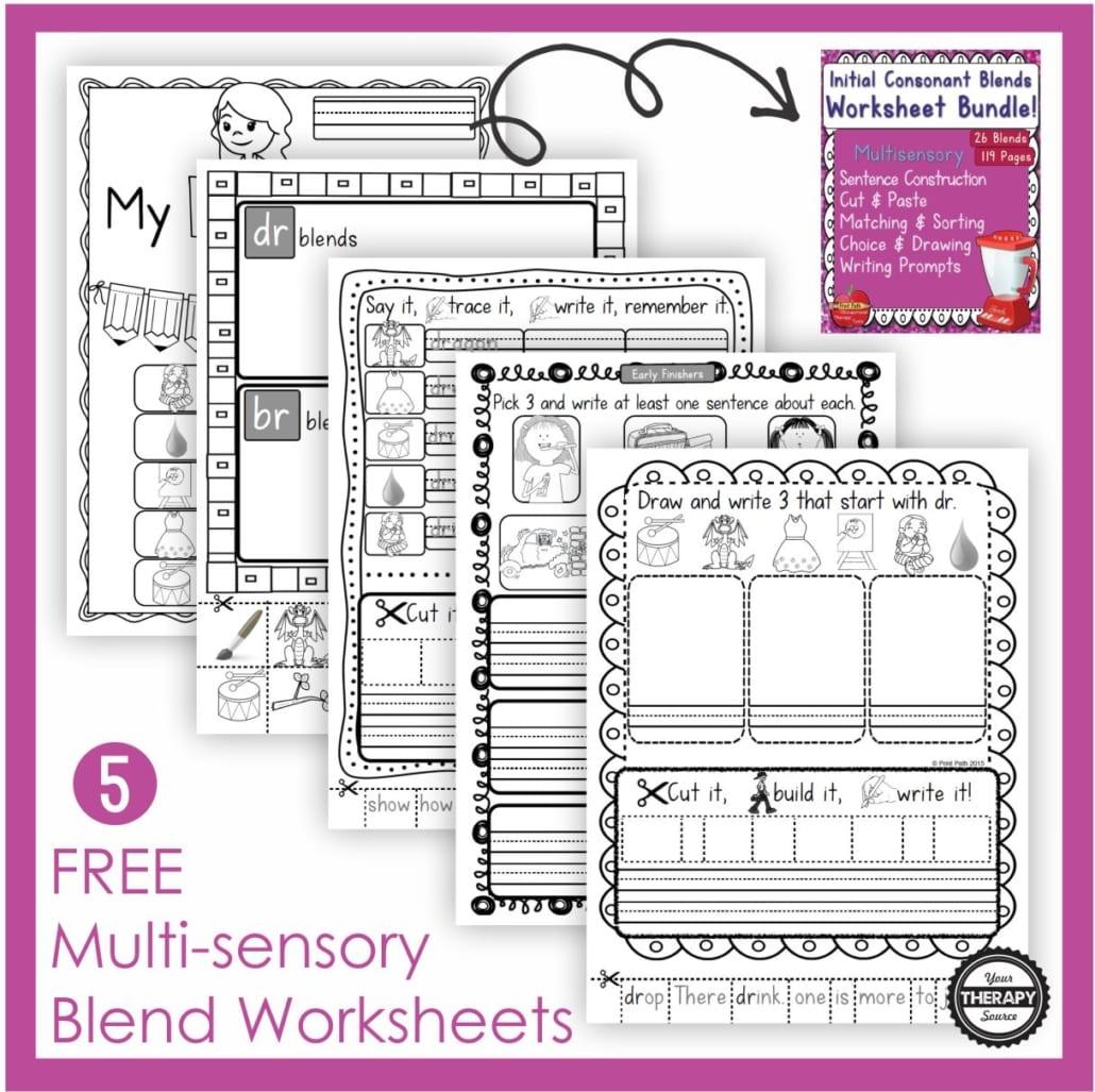 Free Blends Worksheets