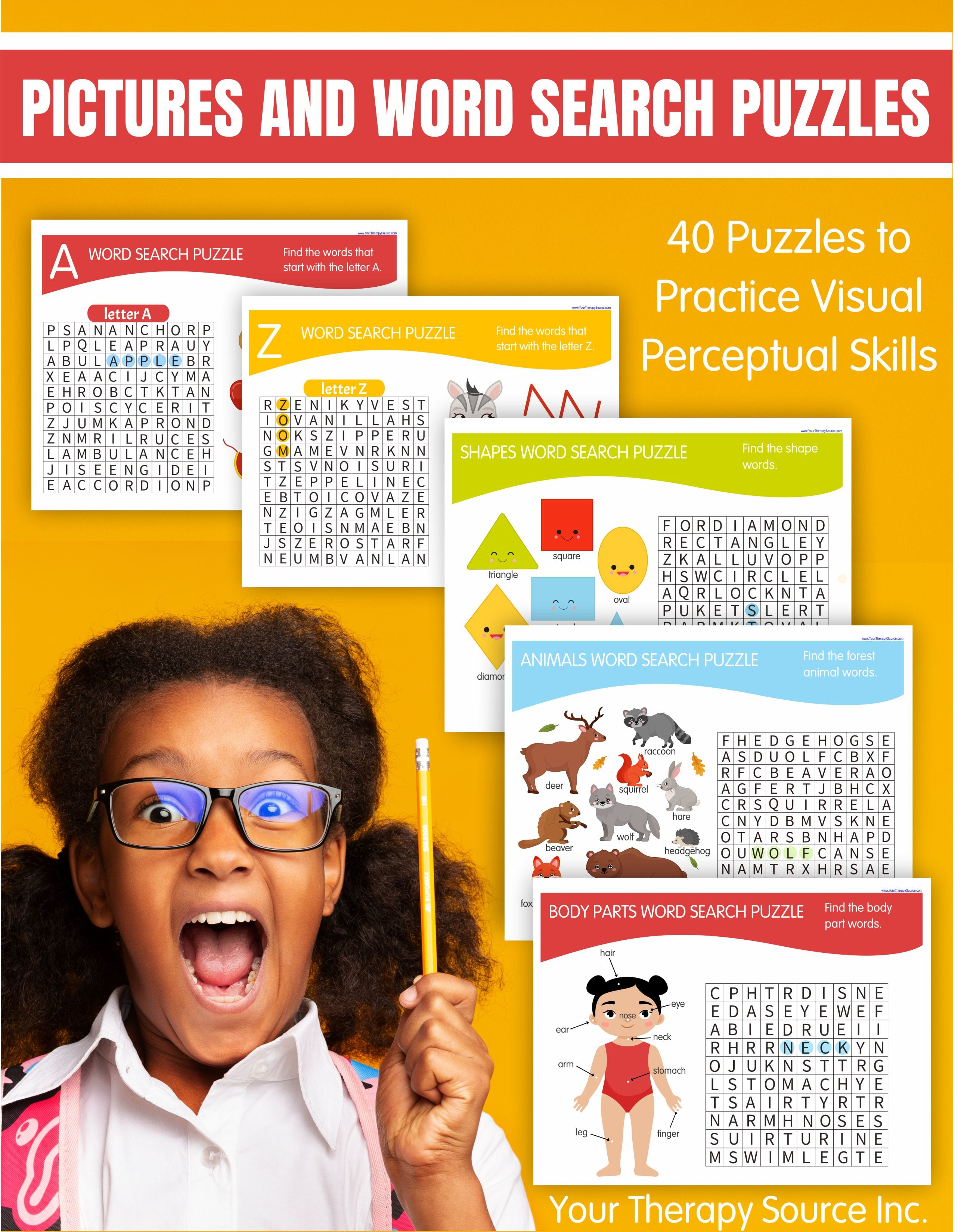 Easy Word Search Puzzles For Kids