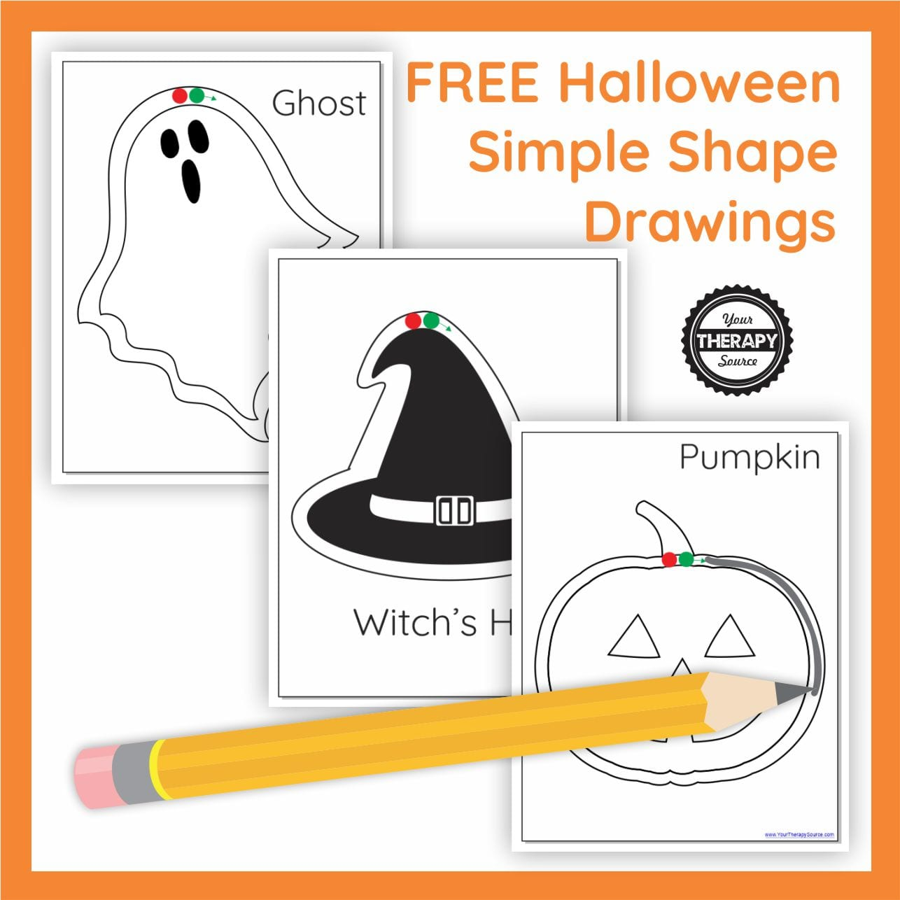 Halloween Simple Shape Drawings Free