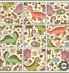 Dinosaur Puzzles Printable - Free - Your Therapy Source [ 901 x 901 Pixel ]