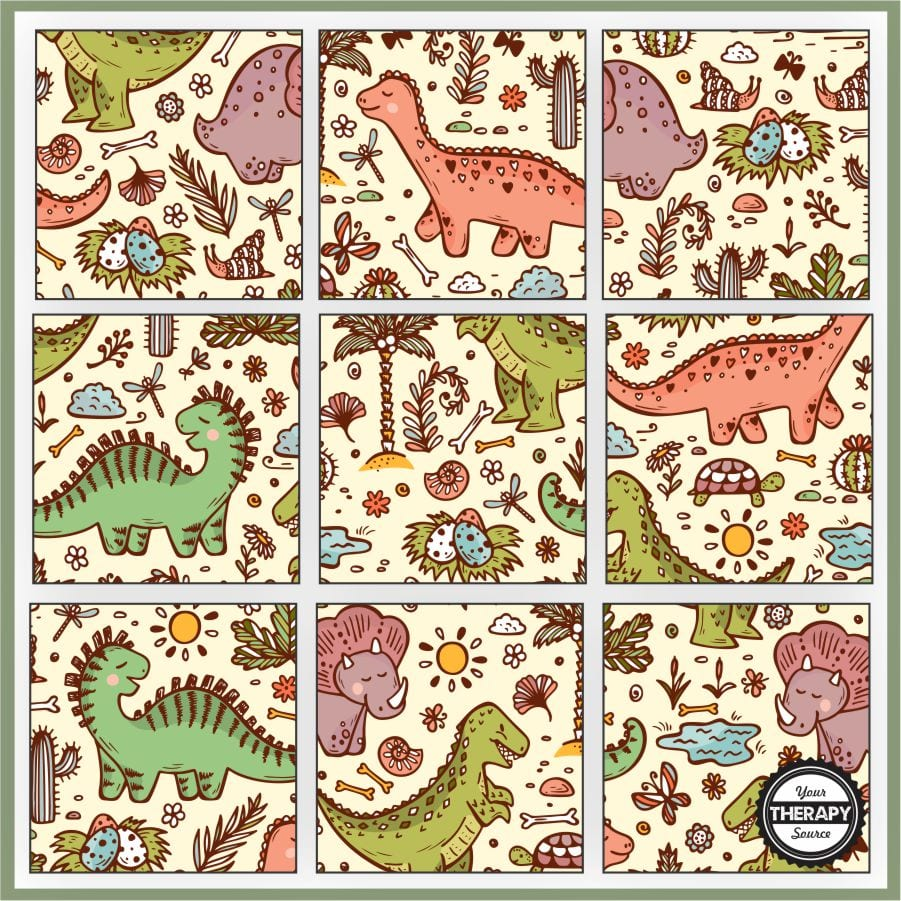 medium resolution of Dinosaur Puzzles Printable - Free - Your Therapy Source