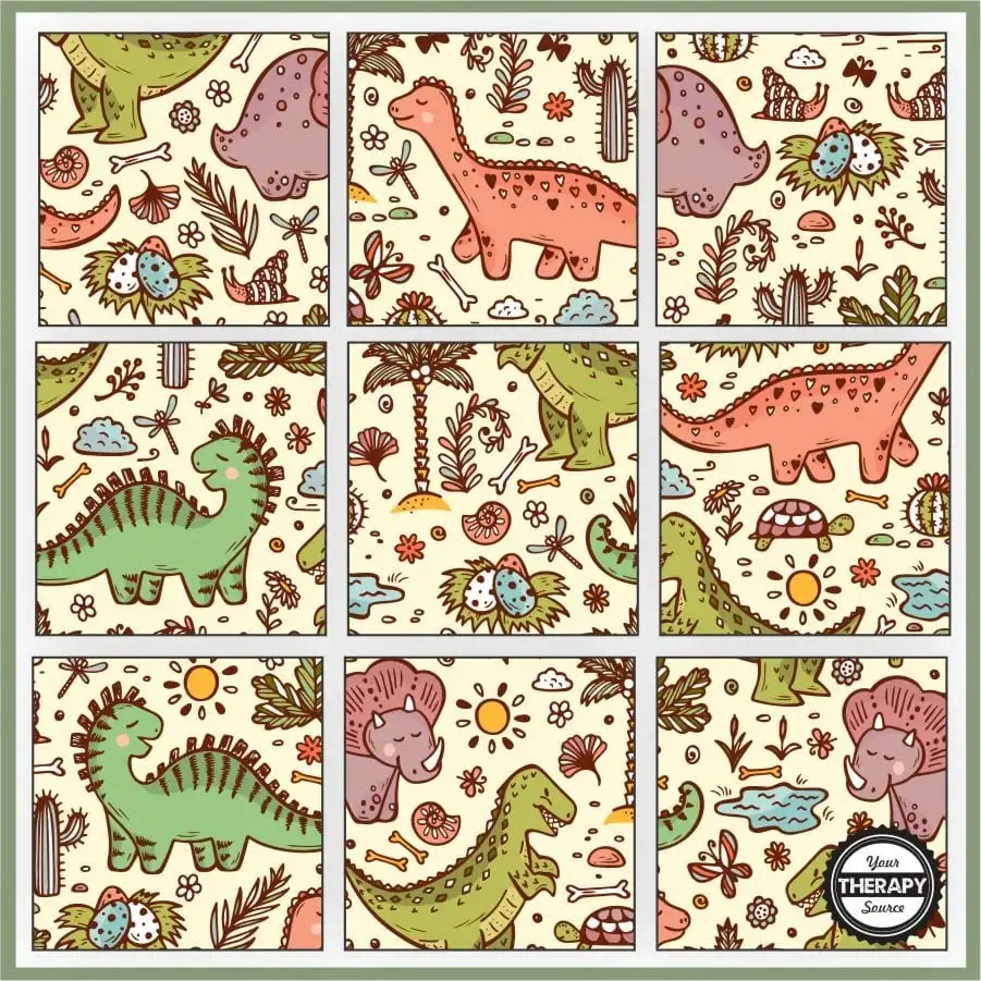 hight resolution of Dinosaur Puzzles Printable - Free - Your Therapy Source