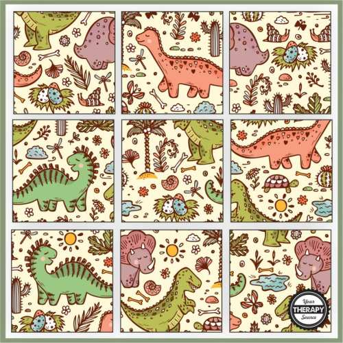 small resolution of Dinosaur Puzzles Printable - Free - Your Therapy Source