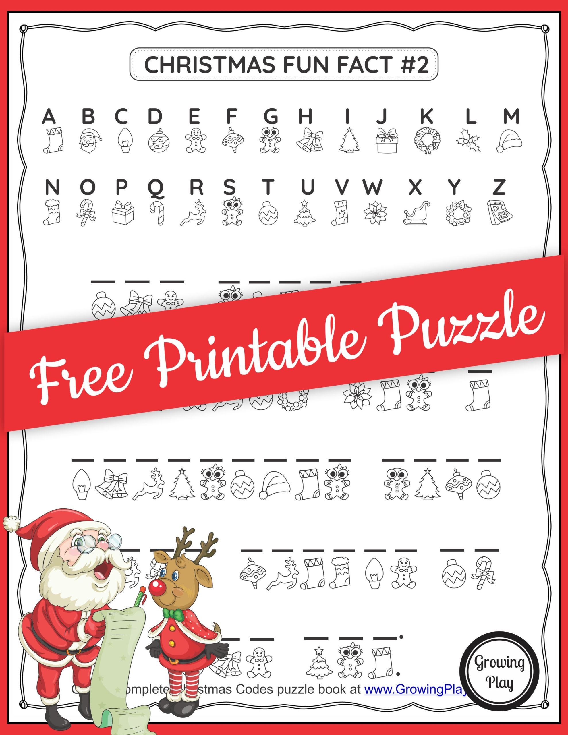 Christmas Puzzlers Packet