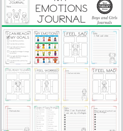 Emotional Regulation Worksheets - For Boys and Girls - Your Therapy Source [ 2560 x 1978 Pixel ]