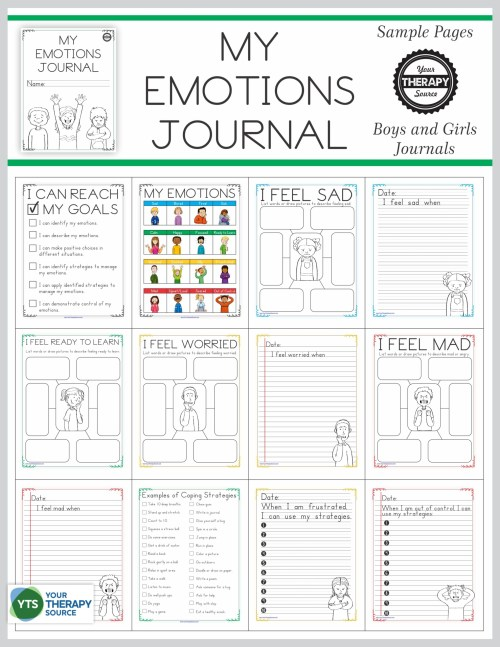 small resolution of Emotional Regulation Worksheets - For Boys and Girls - Your Therapy Source