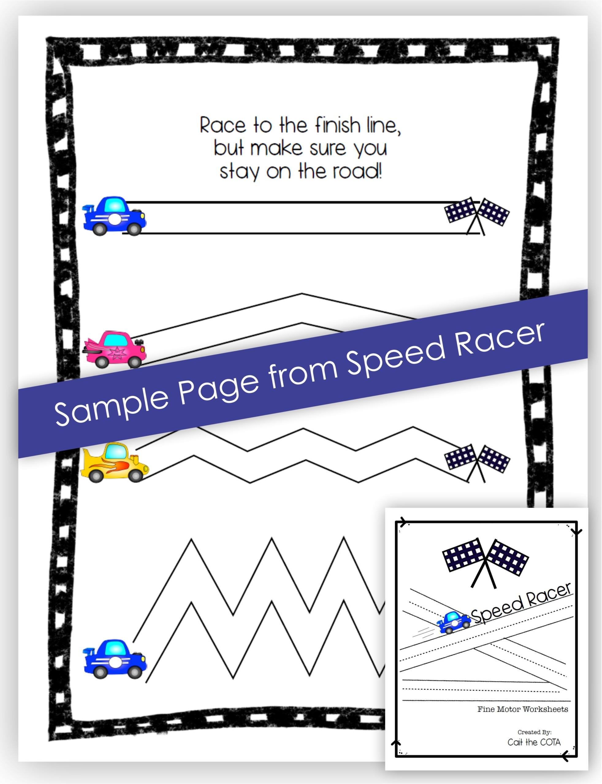 Car Racing Fine Motor Activities