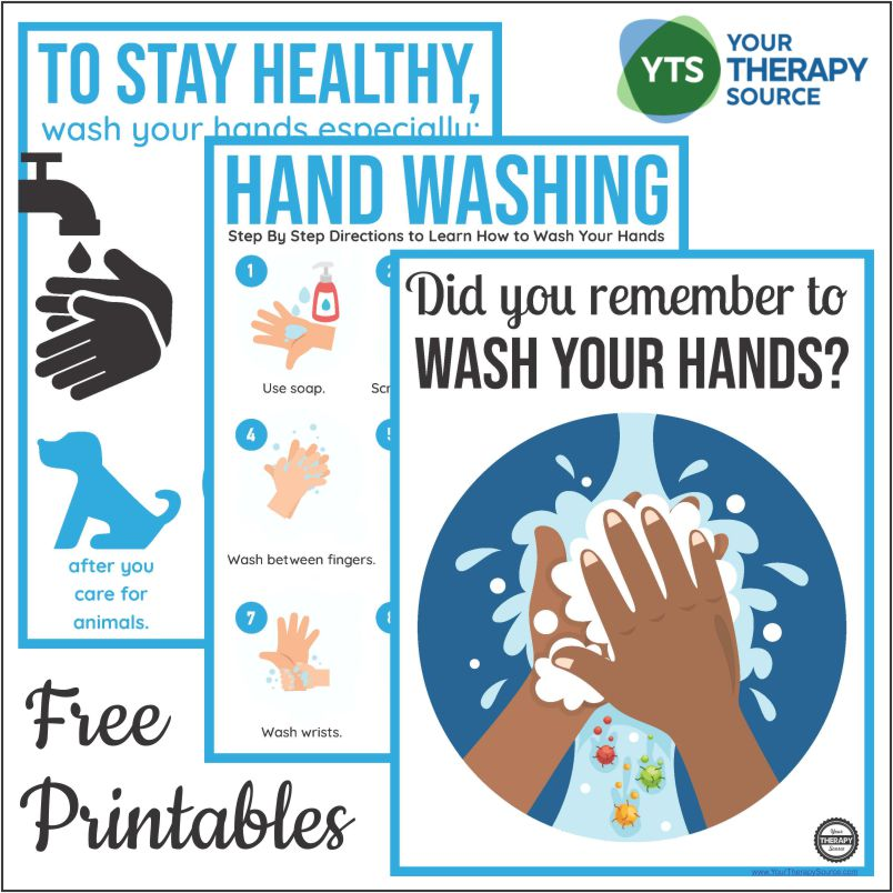 hand washing posters for schools free