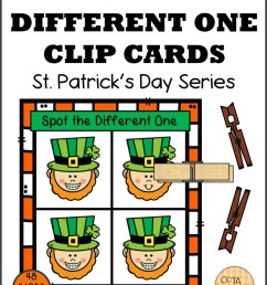 Spot the Difference St Patrick's Day Clip Cards - Your Therapy Source [ 2048 x 1585 Pixel ]