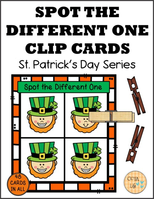 small resolution of Spot the Difference St Patrick's Day Clip Cards - Your Therapy Source