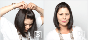 pulling bangs hair tutorial