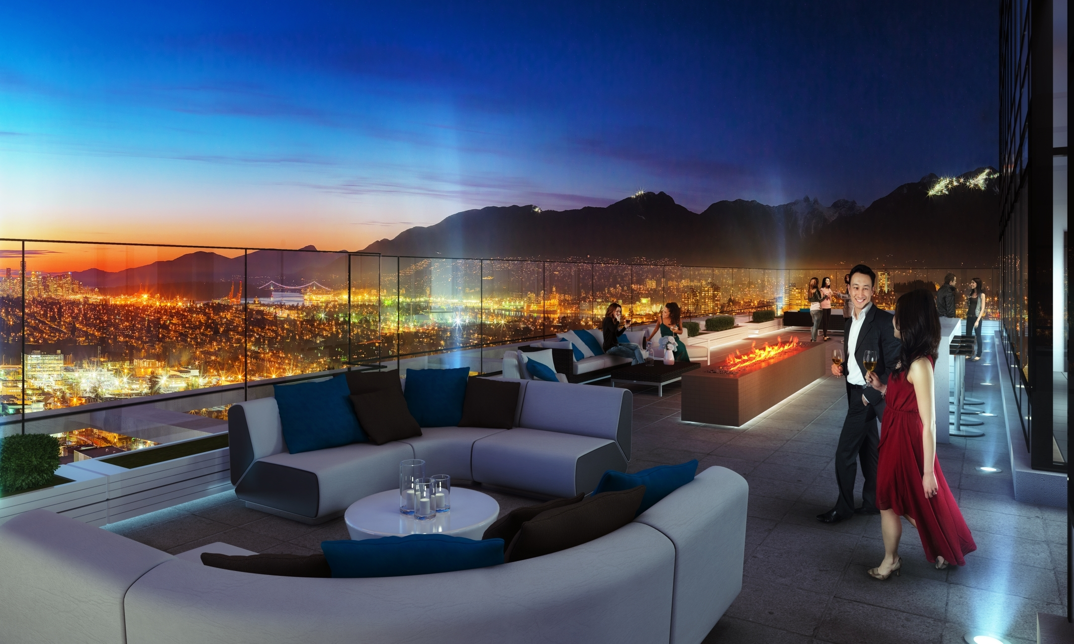 Club 55 A private rooftop amenity space atop Burnabys